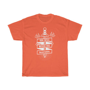 SEO Will Never Die - BrightonSEO Unisex Heavy Cotton Tee