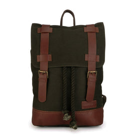 Mens Canvas Backpack - Green