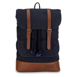 Mens Canvas Backpack - Blue