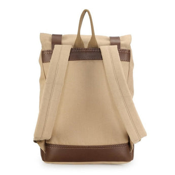 Mens Canvas Backpack - Khaki