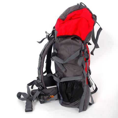 60L Hiking Mountaineer Backpack - Red