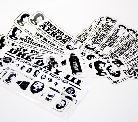 Dr. Dre sticker pack 2005 - 24 assorted stickers