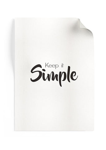 Poster Keep It Simple (w)