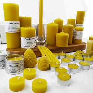 Hand poured beeswax candles, natural candle, ritual , meditation, tea light , long burning