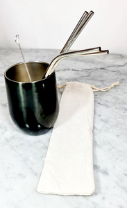 Stainless Steel Straws, Reusable Metal Drinking Straws and accesories, make your own set - BEE Zero Waste
