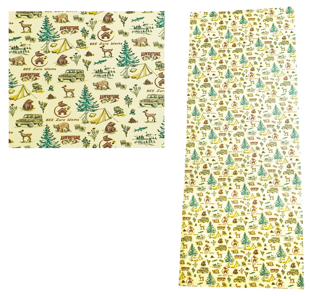 Giant Beeswax wrap, 100x33 cm long, adventure