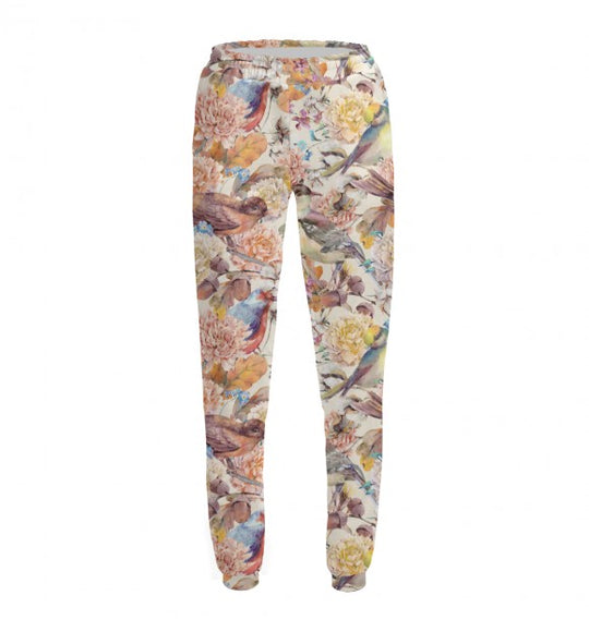 Women's pants Birds and flowers