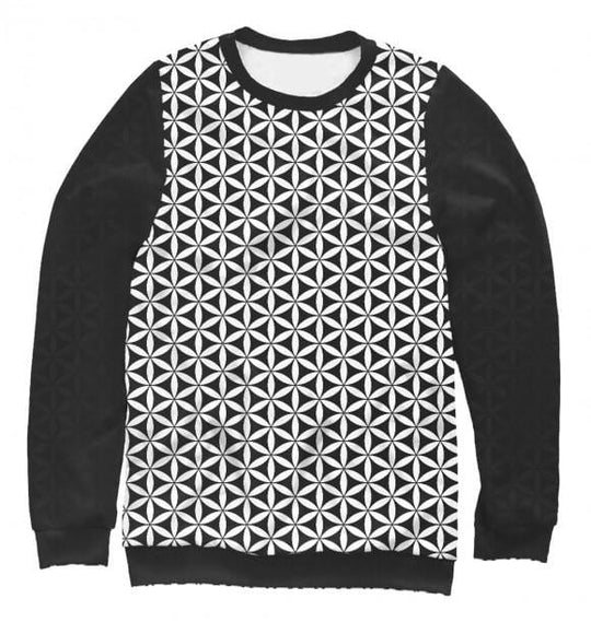 Women's sweatshirt Flower of life (black)