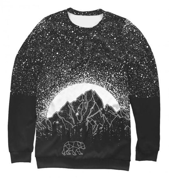Women's sweatshirt Stars and bear