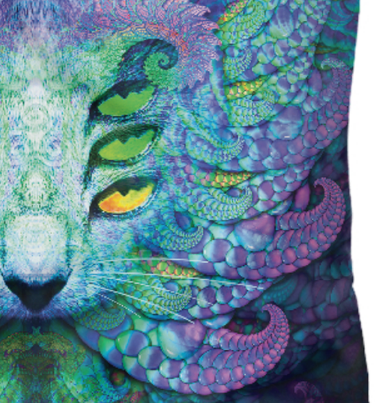 Women's t-shirt Fractal Cat