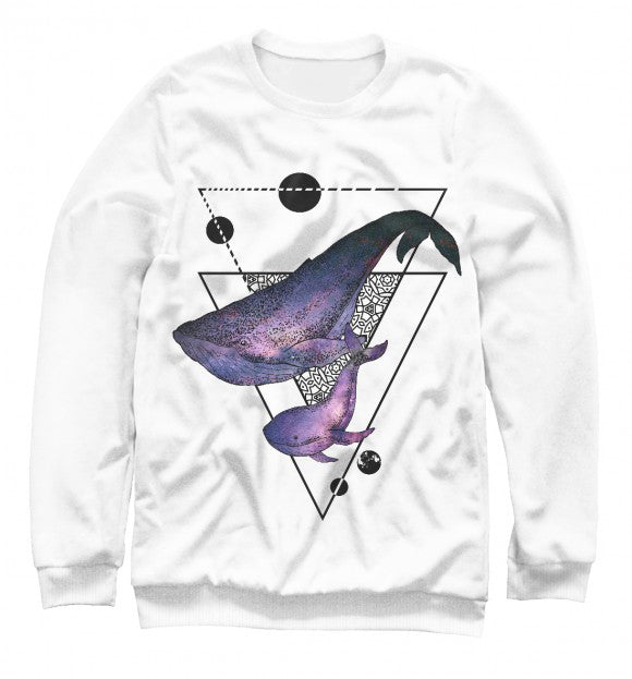 Women's sweatshirt Whale song