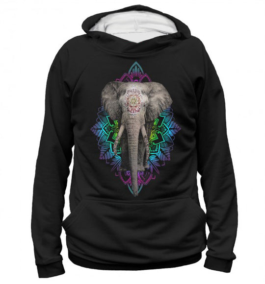 Women's hoodie Indian elephant