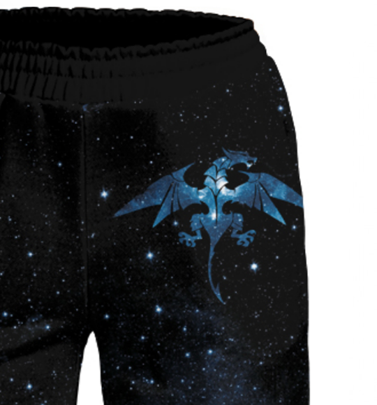 Women's pants Space dragon