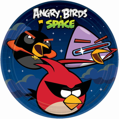 Angry Birds Party Supplies - 9 inch Round Dinner Plates