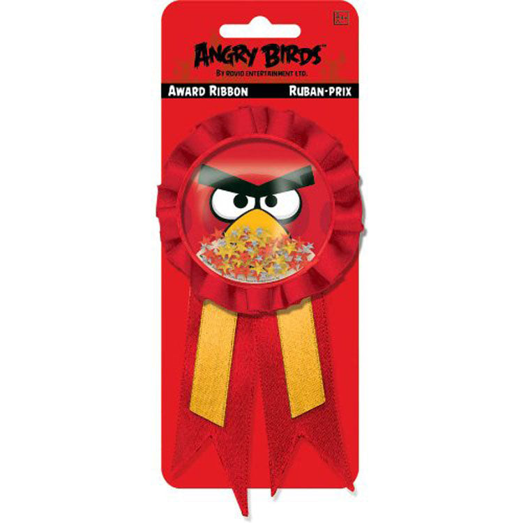 Angry Birds Party Supplies - Confetti Pouch Award Ribbon