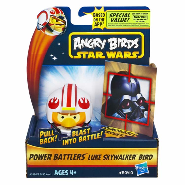 Angry Birds Toys - Star Wars Luke Skywalker Bird Power Battler