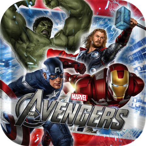 Avengers Party Supplies - Square Dessert Plate