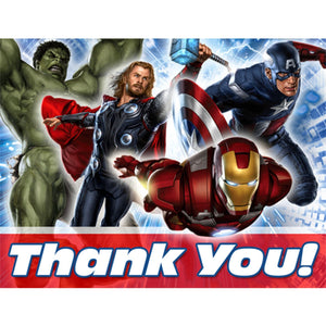 Avengers Party Supplies - Postcard Thank You Notes