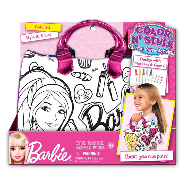 Barbie Toys - Color 'N Style Fashion Purse
