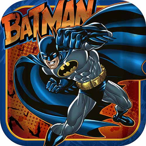Batman Party Supplies - 9 Inch Square Dinner Plate