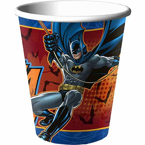 Batman Party Supplies - 9oz Party Cups