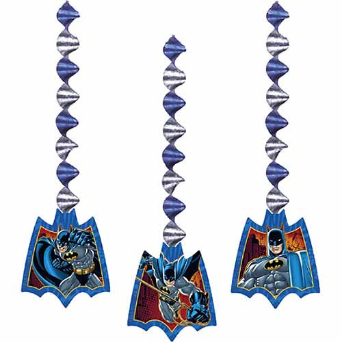 Batman Party Supplies - Swirl Decorations