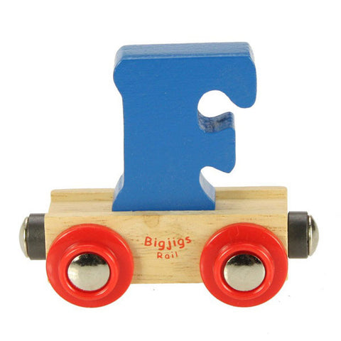 "Bigjigs® Wooden Railway - Rail Name Train Letter ""F"""