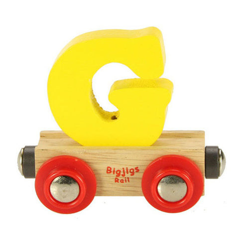 "Bigjigs® Wooden Railway - Rail Name Train Letter ""G"""