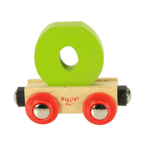 "Bigjigs&reg Wooden Railway - Rail Name Train Letter ""O"""