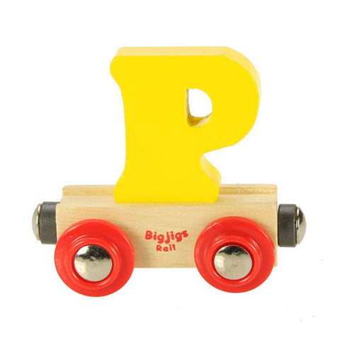 "Bigjigs® Wooden Railway - Rail Name Train Letter ""P"""