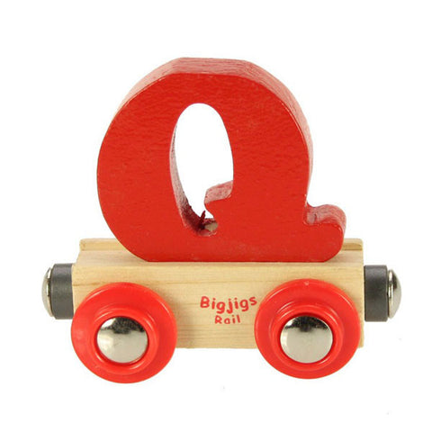"Bigjigs® Wooden Railway - Rail Name Train Letter ""Q"""