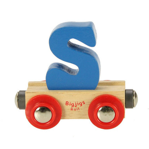 "Bigjigs® Wooden Railway - Rail Name Train Letter ""S"""