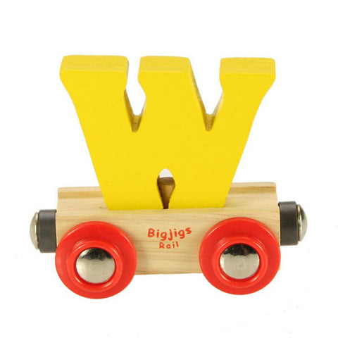 "Bigjigs® Wooden Railway - Rail Name Train Letter ""W"""