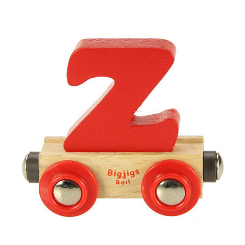 "Bigjigs® Wooden Railway - Rail Name Train Letter ""Z"""