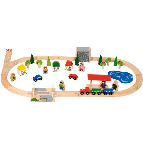 Bigjigs® Wooden Railway - Village Train Set