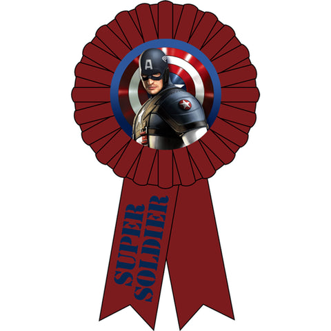 Captain America Party Supplies - Award Ribbon