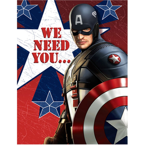 Captain America Party Supplies - Postcard Invitations