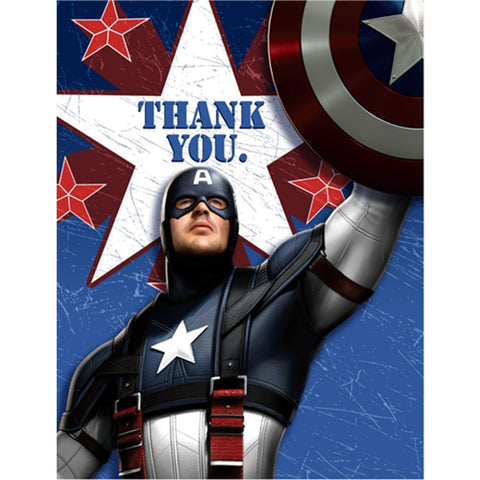 Captain America Party Supplies - Postcard Thank You Notes