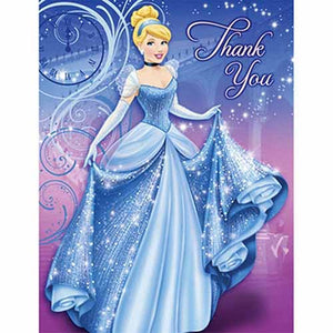 Cinderella Party Supplies - Postcard Thank You Notes