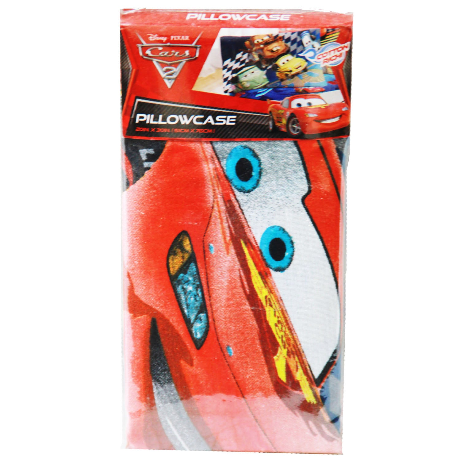 Disney Cars Bedding - Cars 2 Pillow Cover