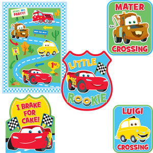 Disney Cars Party Supplies - 1st Birthday Decorating Kit