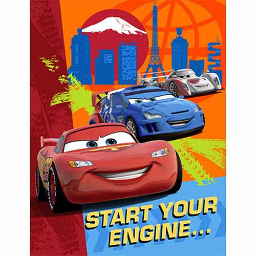 Disney Cars Party Supplies - Postcard Invitations