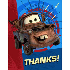 Disney Cars Party Supplies - Postcard Thank You Notes