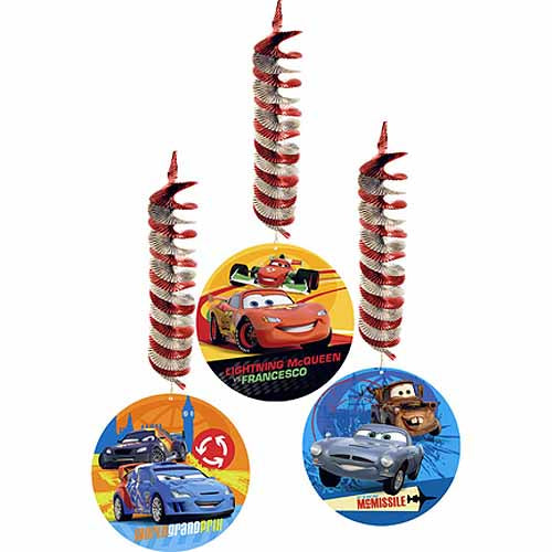 Disney Cars Party Supplies - Swirl Decorations