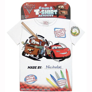 Disney Cars Toys - Color A T-Shirt Activity