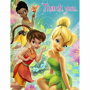 Disney Fairies Party Supplies - Postcard Thank You Notes