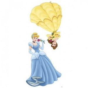 Disney Princess Bedroom Decor - Belle & Cinderella Giant Wall Sticker
