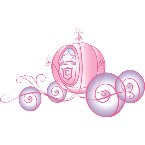 Disney Princess Bedroom Decor - Disney Princess Carriage Giant Wall Decal