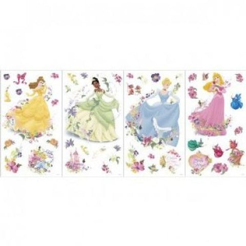 Disney Princess Bedroom Decor - Princess & Pearls Self-Stick Wall Stickers