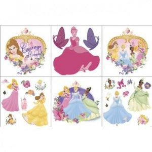 Disney Princess Bedroom Decor - Princess & Pearls Wall Decorating Kit